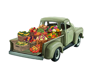 Farmlind Produce logo - footer